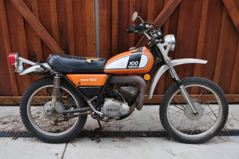 1975 Vintage Yamaha DT100 Enduro Barn Find for sale
