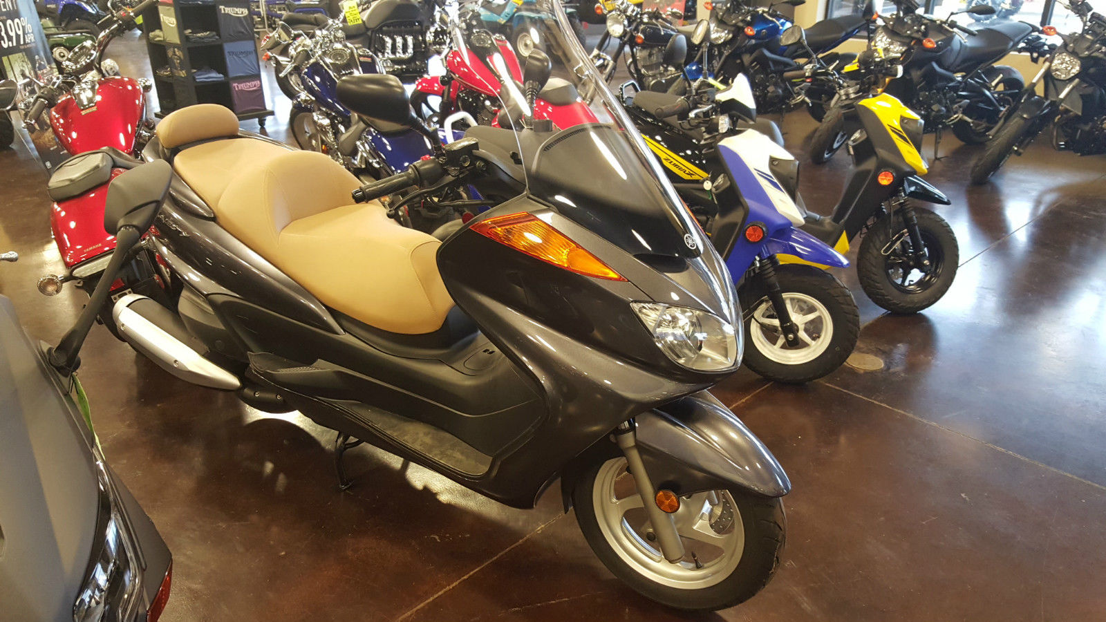 v star 1300 motorcycles with 2013 Yamaha Majesty 400cc Scooter on 2006 Yamaha Road Star Midnight Warrior Road Test as well 2008 Kawasaki Ninja 500r 2 2 likewise Photo 1 moreover Yamahas His N Hers Custom Cruisers moreover Triumph S New Cruisers With Harley Davidson Disguise 62973.
