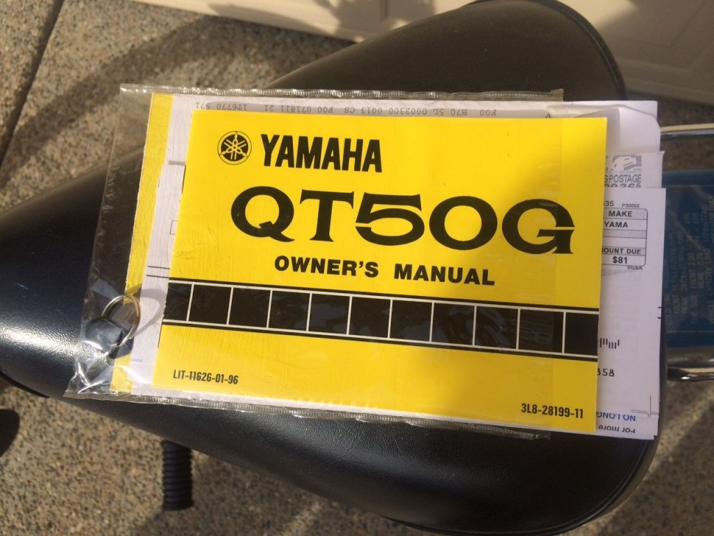 1980 yamaha qt50 owners manual