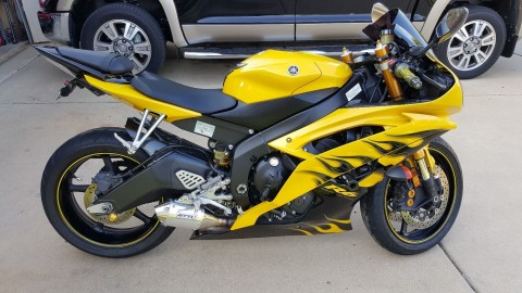 2008 Yamaha YZF R6 Special Edition Yellow Frame for sale